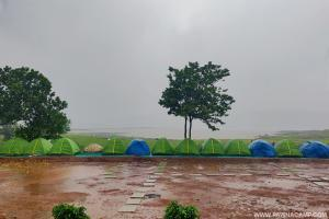 lakeview of camp B in monsoon
