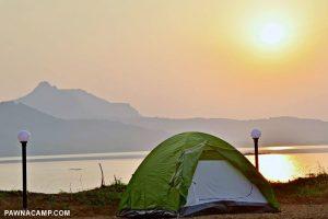 lakeside tent area