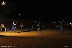 Badminton on camp F of Pawna lake