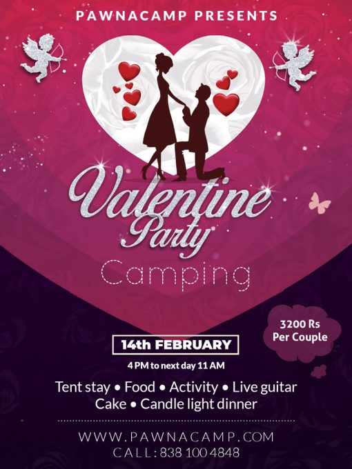 Valentine day camping at Pawna camp