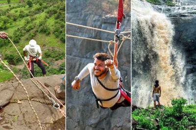 Dudhiware Waterfall Rappelling with Zipline, Valley Crossing (Incl Lunch)