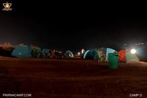 Night time photo at camp D of pawnacamp