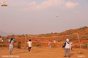 Volleyball activity ground on camp D