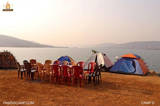 lakeside tents on camp D