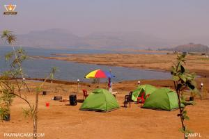 Tents area near lake
