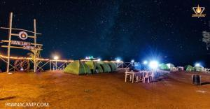 night view of camp K