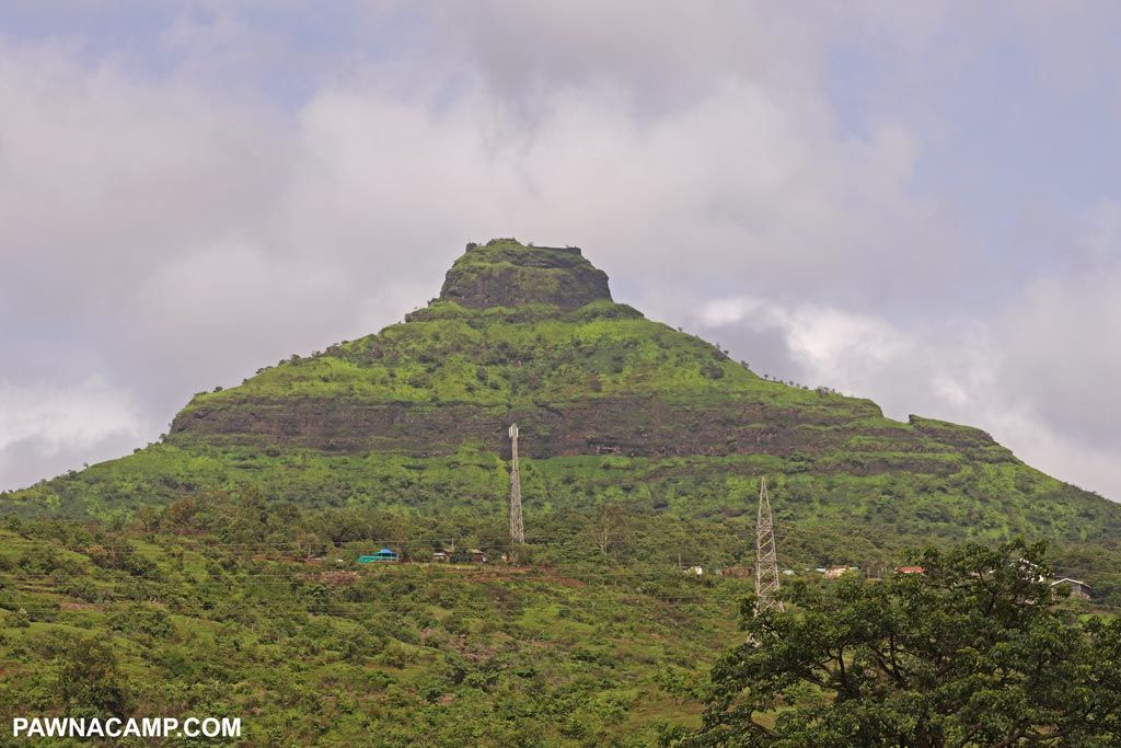 Tikona fort in monsoon